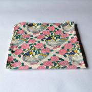 WoodBlock Print Handkerchief 青い鳥 カラー