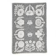 Half Blanket Villikukkia  gray