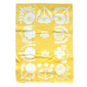 Half Blanket Villikukkia  yellow