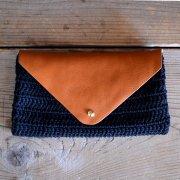 leather & cotton bag