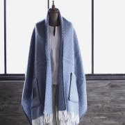 Shawl Iida blue/white