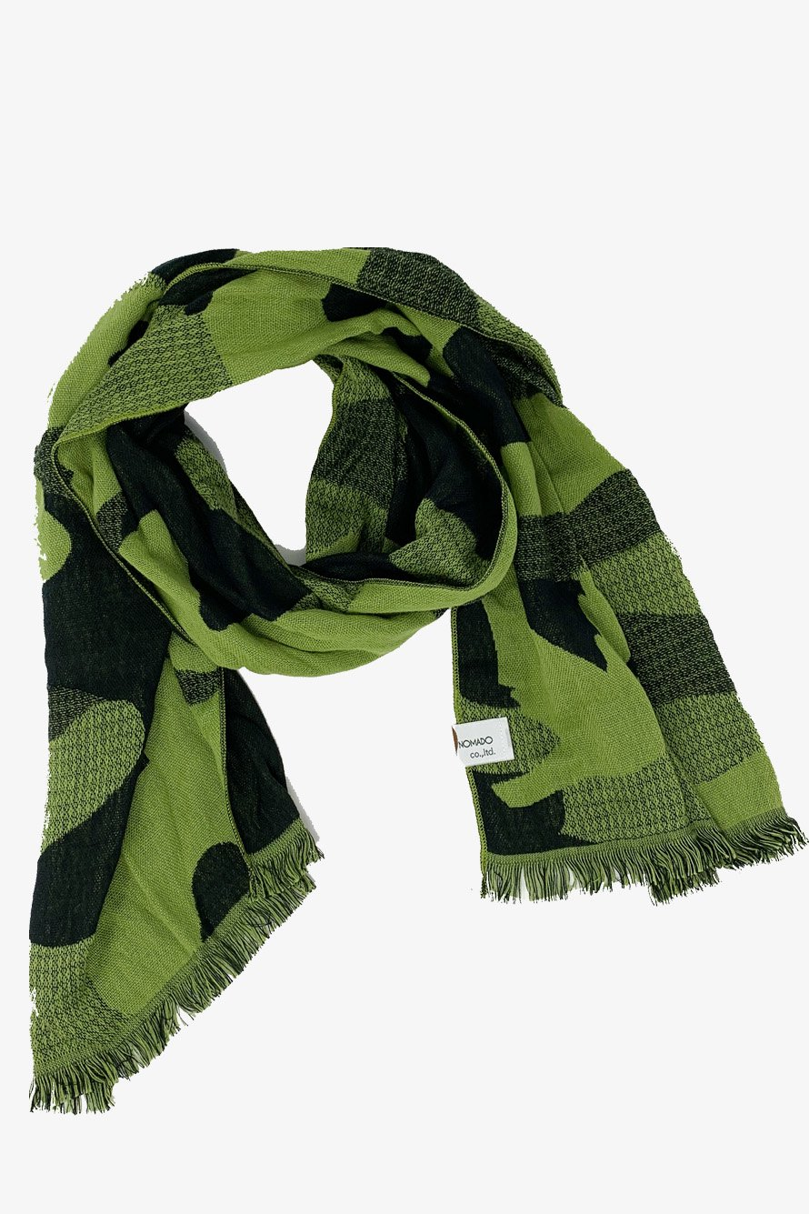 GREEN CAMOUFLAGE / STOLE TOWEL