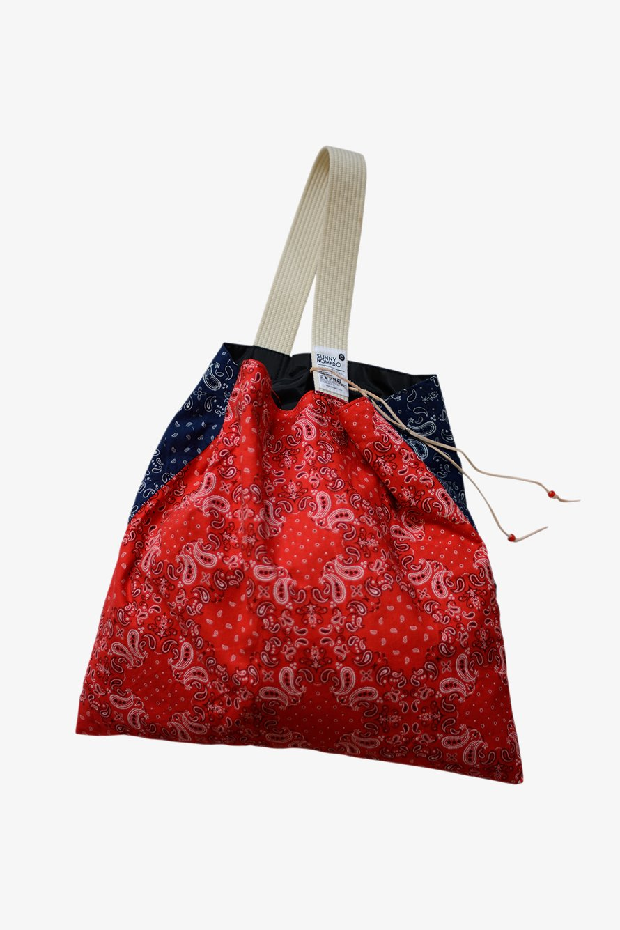 BANDANA PORTABLE TOTE (RED/NVY)