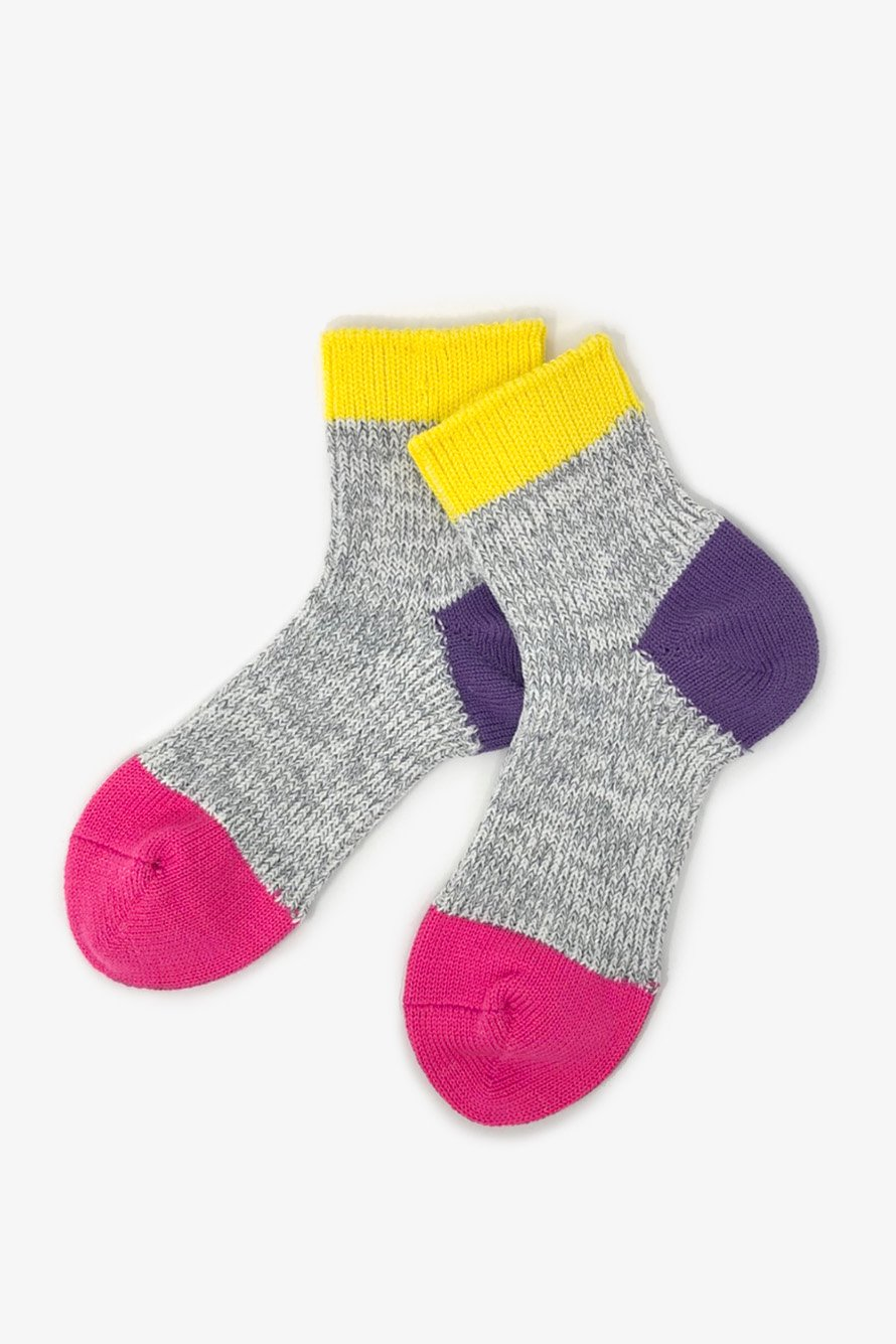 TMSO-121 【Kanga Hemp Socks】 YELLOW(イエロー)