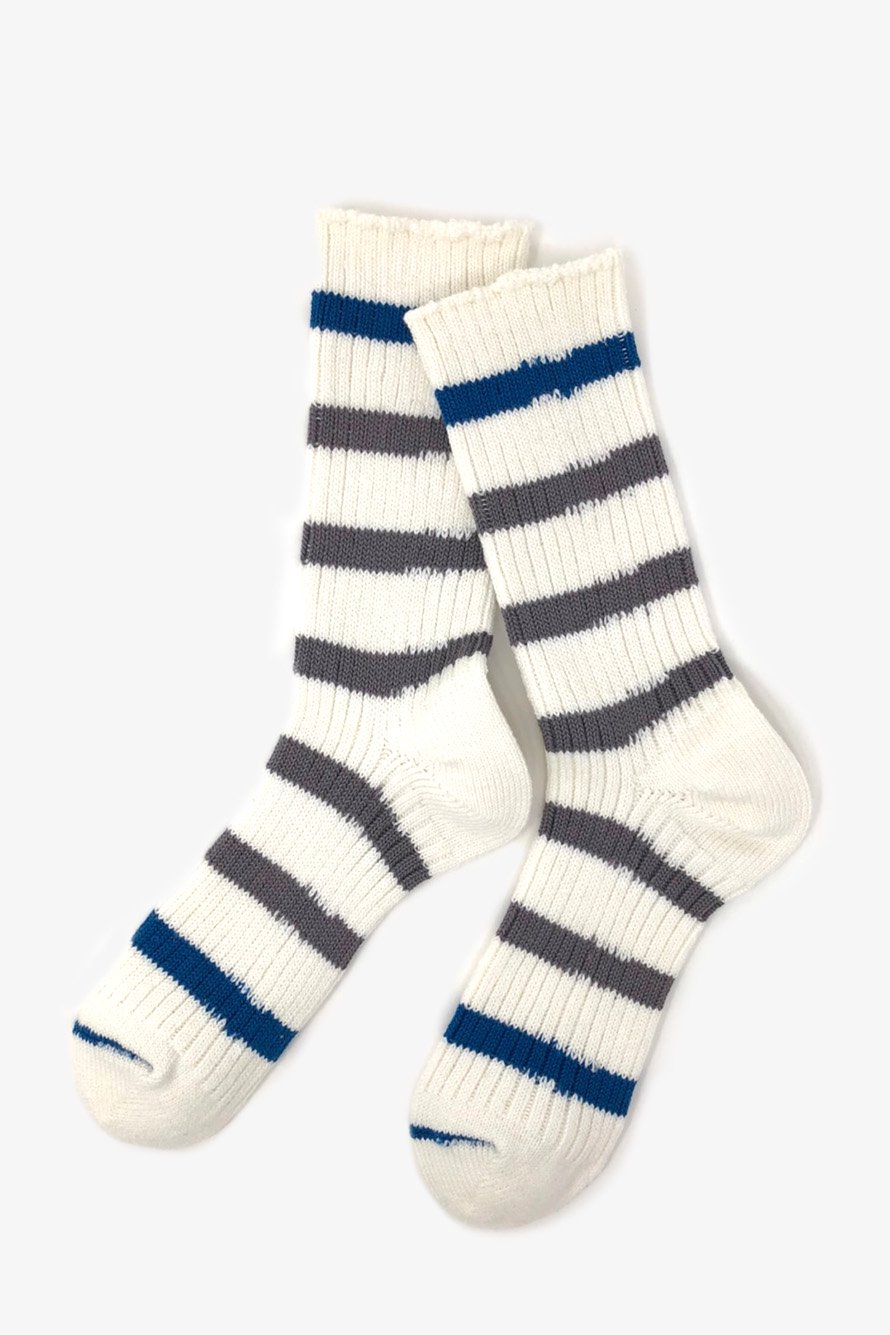 TMSO-122 【Savanna Border Hemp Socks】 GRAY(グレー)