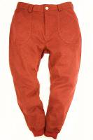 Woolen Rib Pants RED