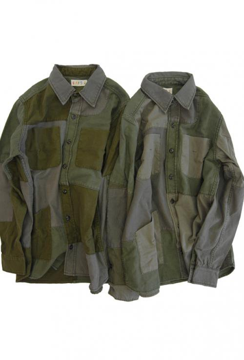 Used Patchwork Shirts_ARMY
