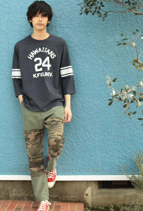 Used Patchwork Pants_ARMY