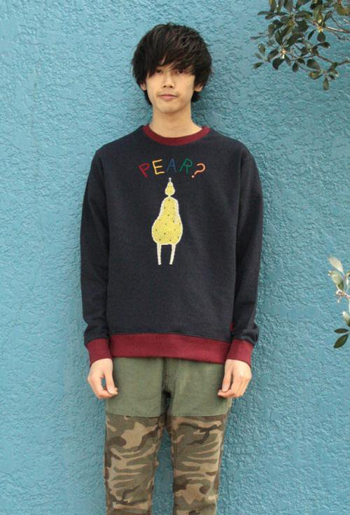 Pear H/Embroi Sweat Crew