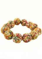 Handmade Yarn Ball  Bracelet