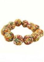 Handmade Yarn Ball  Bracelet