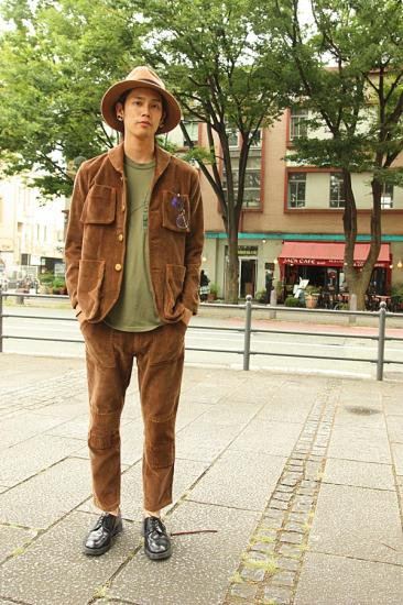 Corduroy Railroader JKT BROWN