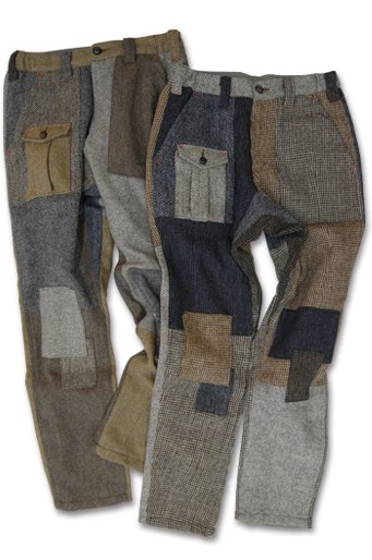 Harris Tweed Patchwork Pants