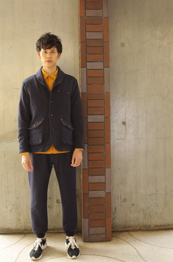Woolen Showl Coller JKT_NAVY