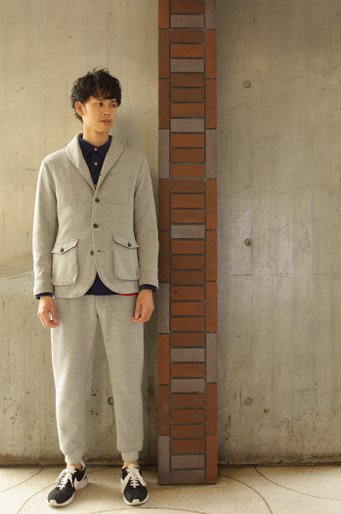 Woolen Showl Coller JKT_GRAY