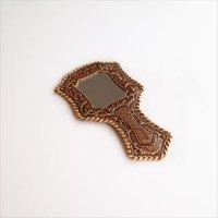 ロシア 白樺 ベレスタ 手鏡 型押し