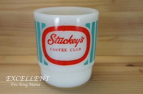 ファイヤーキング Fire-King Stuckey's COFFEE CLUB スタッキーズ アドマグ EXCELLENT