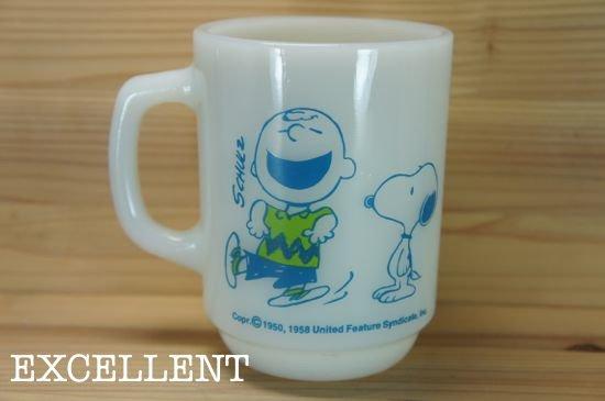 ファイヤーキング Fire King 9オンスマグ スヌーピー Snoopy チャーリーブラウン EXCELLENT