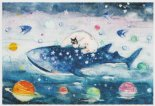 ポストカード 「ジンベイザメ」 by 仁子