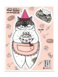 KORIRI 世にも不思議な猫世界 ゼネラルステッカー ぱんこさん