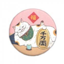 KORIRI 世にも不思議な猫世界 缶バッチ まねきねこ