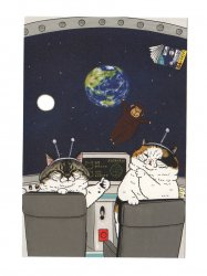 KORIRI 世にも不思議な猫世界 ポストカード 宇宙船