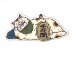 KORIRI 世にも不思議な猫世界 フェルトブローチ まねきねこ