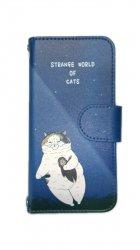 KORIRI 世にも不思議な猫世界 スマホケース/手帳型(iPhone7/8用)UFO