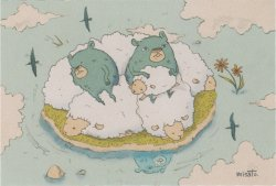 ポストカード 羊 by misato.