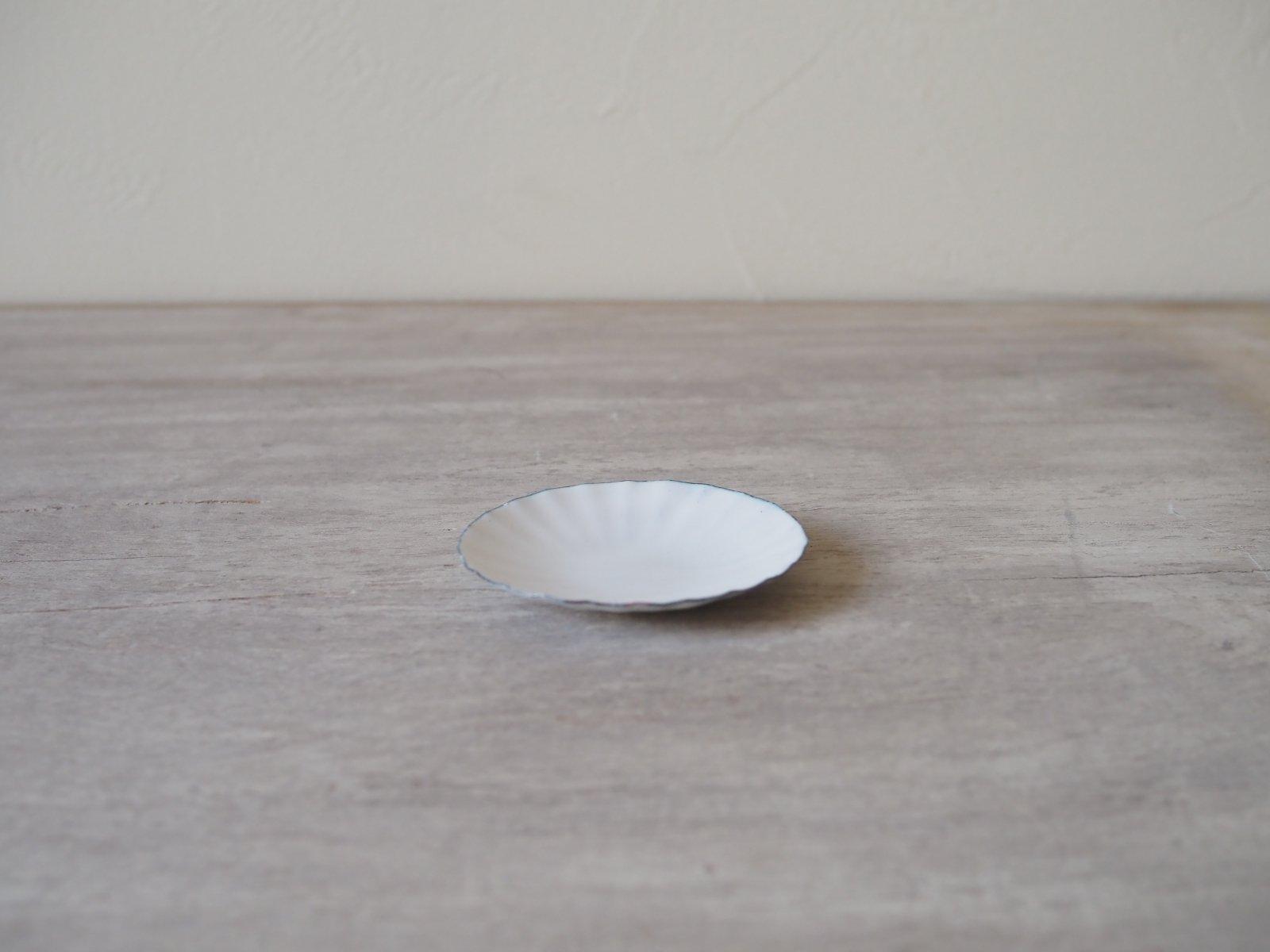 銅ホーロー しのぎ豆皿