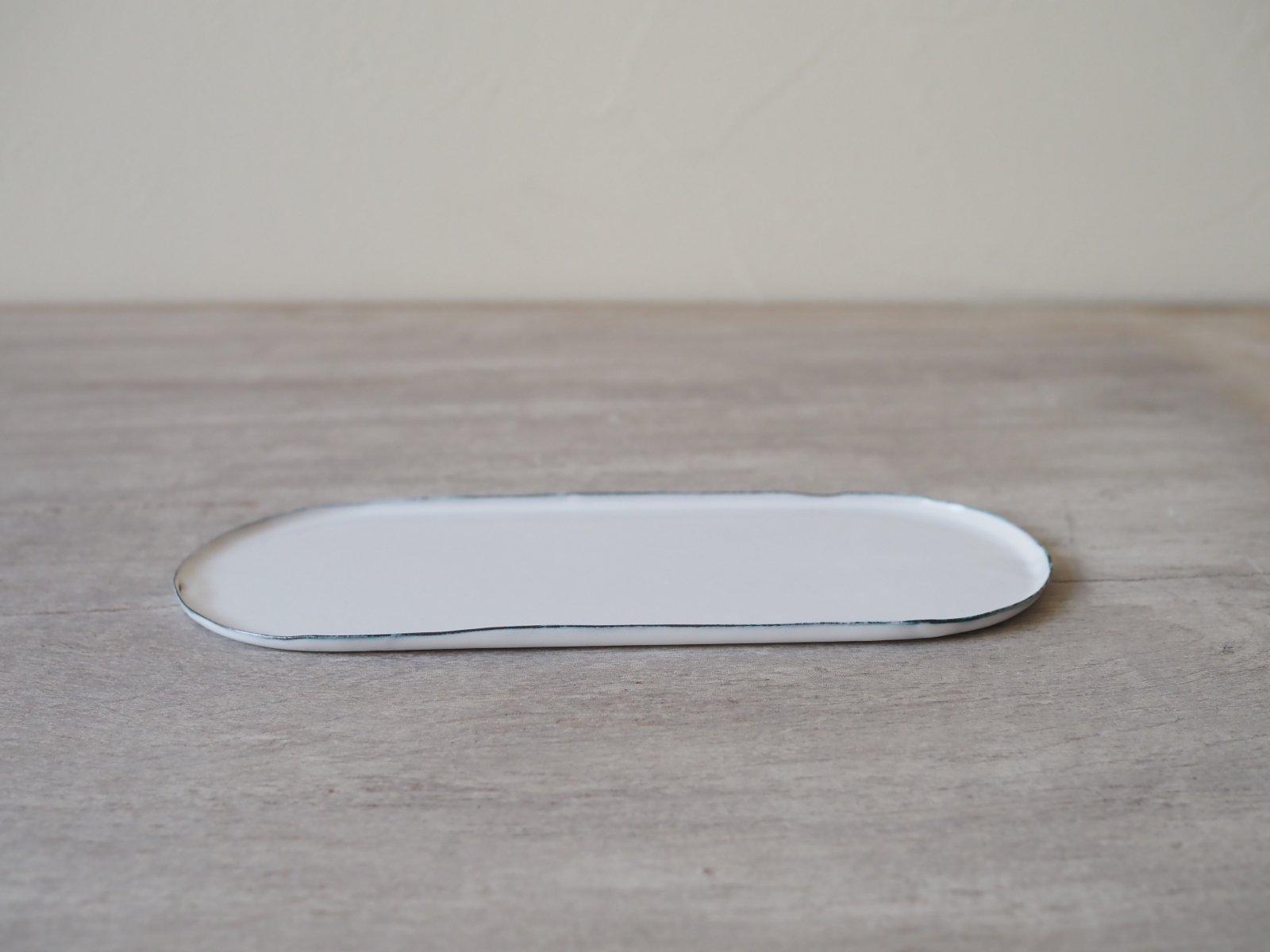 銅ホーロー 楕円トレイ