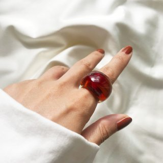 glass ring ◆terracotta