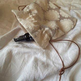 Vintage flower organdie tassel bag(A)