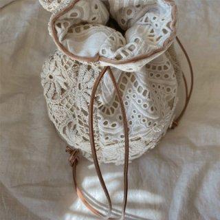 Vintage lace bag (beige)