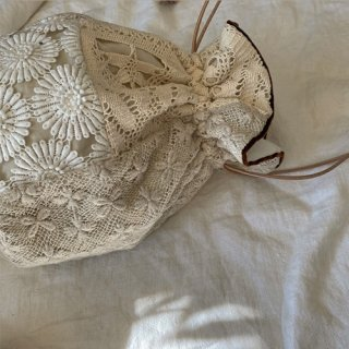 Vintage lace bag (brown)