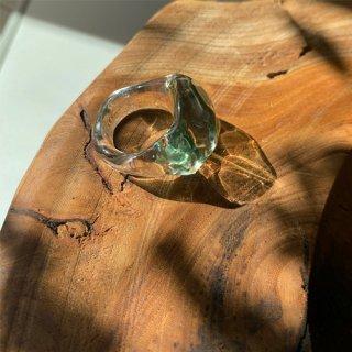 glass ring green