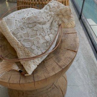 【4/28 21:00】Vintage lace bag (tassel)