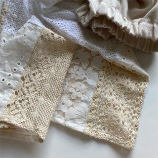 ◆21日21:00発売 linen×lace pants ※B(7月下旬より納品)