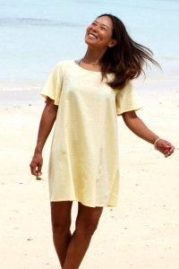 【DESLIE】Linen&Cotton Dress