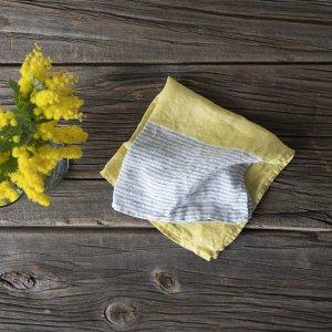 【Lino e Lina】Handkerchief  Cascata レモングラス
