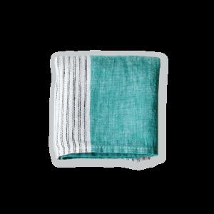 【Lino e Lina】Handkerchief  Cascata エメラルド