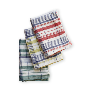 【Lino e Lina】Kitchen Cloth-Washed- Menton レッド
