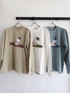 【TES】SURF BUHI LONG SLEEVE T-SHIRT