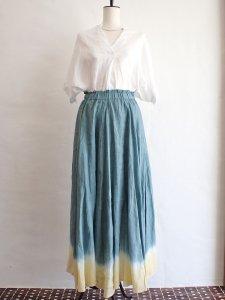 【I am...】Linen Flare Long Skirt
