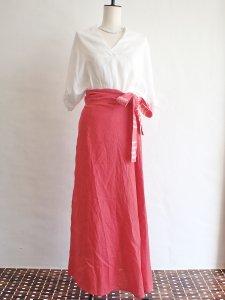 【I am...】Linen Wrap Long Skirt