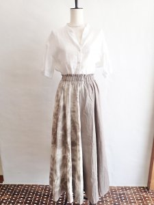 【I am...】W Gauze Flare Long Skirt