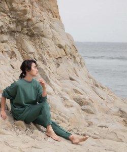 【GLASSY SEA】SIDEZIP SWEAT PANTS
