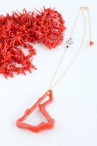 K18 サルデニア赤珊瑚  フープネックレス
