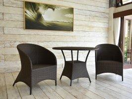 軽くて丈夫で屋外使用可能 全天候型ガーデン家具のラタンラウンジチェア【TUC-04】