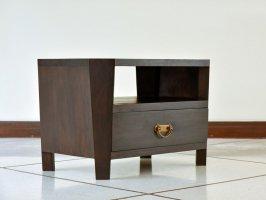 収納付きのおしゃれなナイトテーブルは小さめのTV台にも。縁起の良い八角形の木製アジアンサイドテーブル【AS-126】